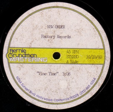 New Order Singles Fine Time
