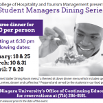Student Managers Dining Series
