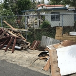 Much of the debris left in the wake of Hurricane Maria has yet to be cleared.