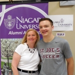 Colleen (James) O'Rourke, '79, M.S.Ed.'96, and son, Jonathan