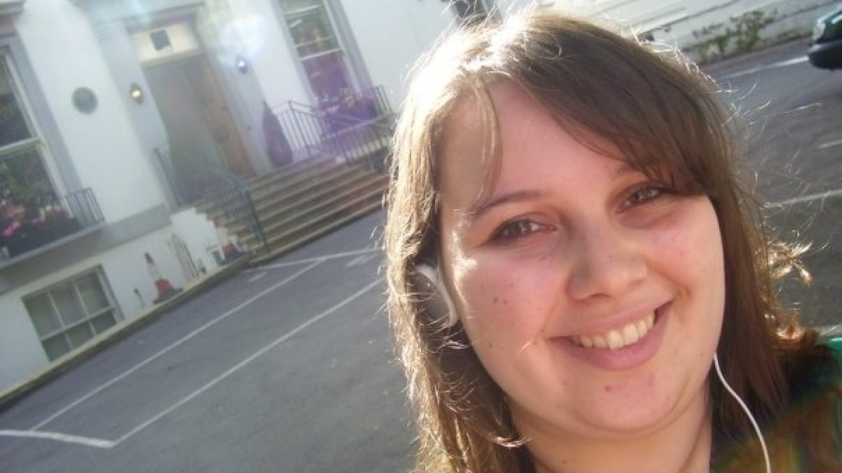 Savannah Hauck at Abbey Road Studios in London