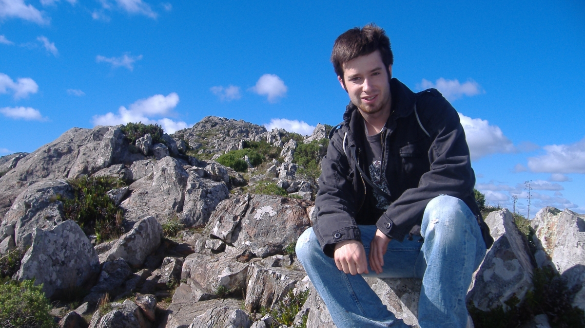 Grant Sanford hiking in Argentina