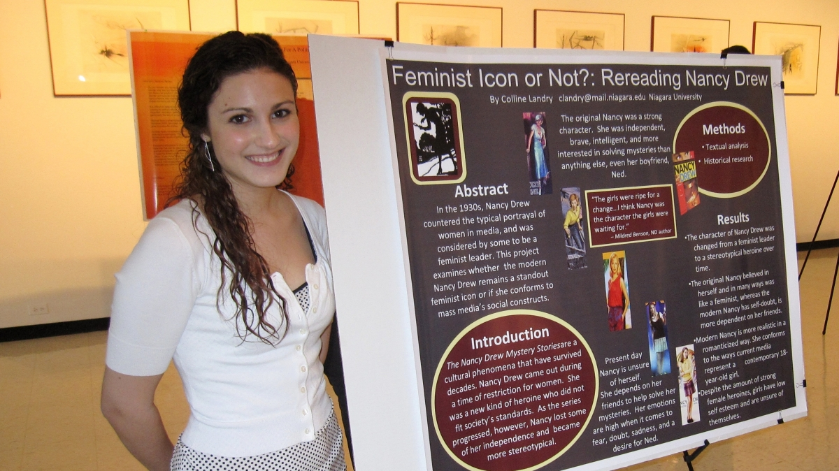 Colline Landry presents her research at the Undergraduate Research Conference