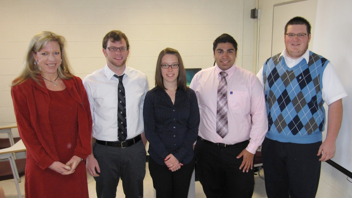 Dr. Brown & Panel of Students at the Undergraduate Research Conference