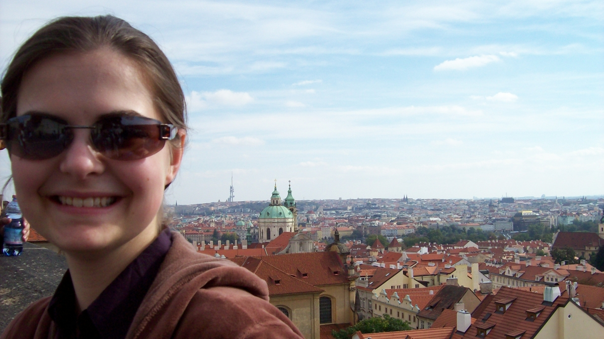 Student Visiting Praugue While Studying in Berlin, Germany (courtesy of A. Peeck).