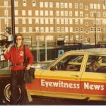 Ed at WKBW-TV when he started in 1980. He carried his video tape recorder in a bag and wore heavy battery packs around his waist.