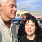 While working side by side with volunteers from the Clinton Global Initiative, Veronica had the opportunity to meet former President Bill Clinton.