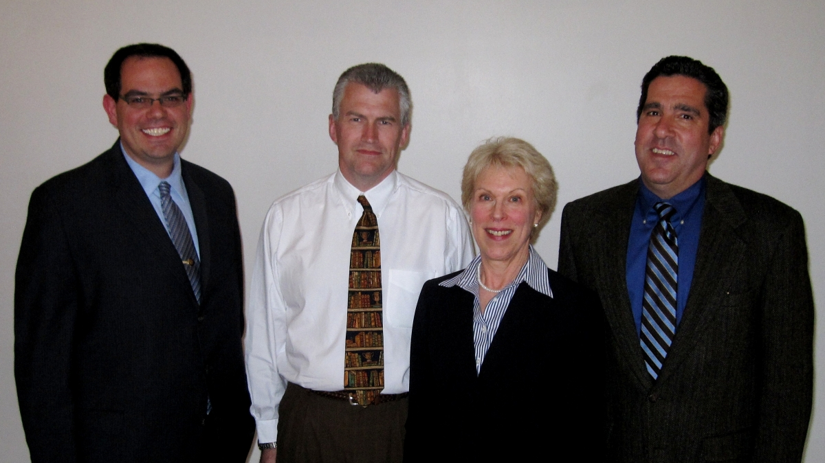 2010 Awardees: Ronny Priefer, Timothy Ireland, and Dr. Butera with Dr. McGlen