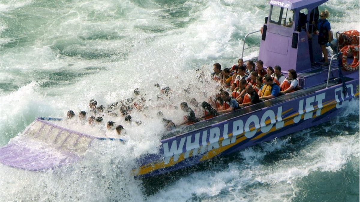 The Whirlpool Jet Boat is a thrilling 45-minute white water adventure through the Niagara Gorge. The docking point is only a few minutes from NU.