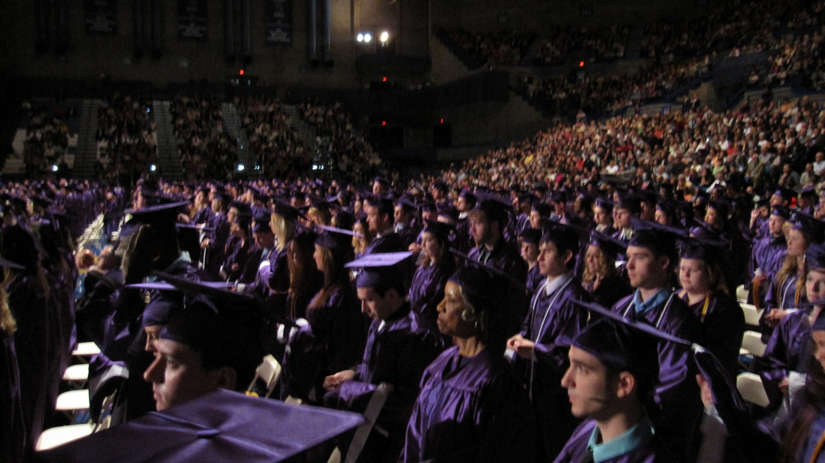 Students and Families at Commencement