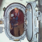 This 2008 photo of Ed shows him inside the submarine USS Croaker for a story he was doing about its preservation.