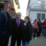 Veronica with Monsignor John Brown, pastor of St. Francis de Sales church, and NYPD Commissioner Ray Kelly.