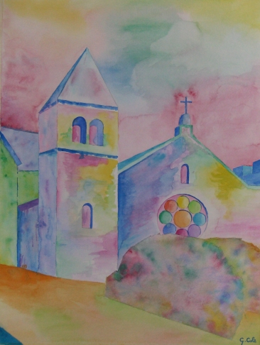 NU Chapel in Watercolor by Giorgio Cole
