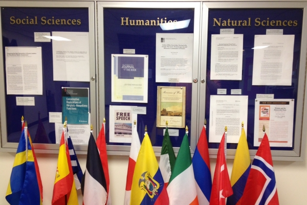 Research Display on the Third Floor of Dunleavy