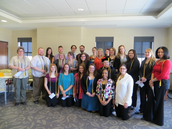 Phi Alpha Inductees with Dr. Laverman 2014