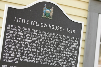 Little Yellow House - 1816 Sign