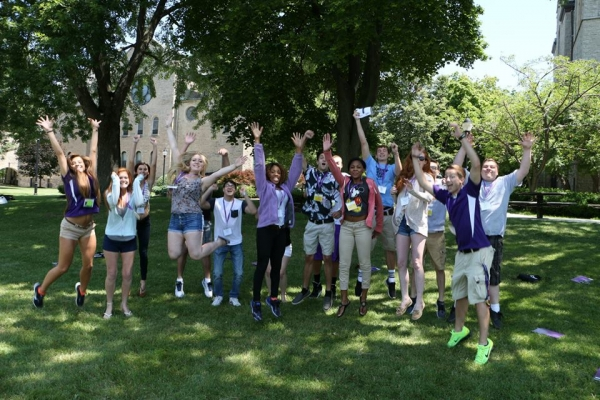 Students enjoying Summer Orientation