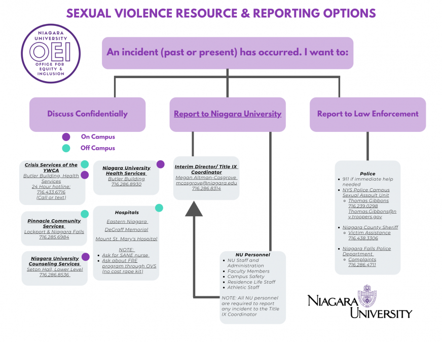 Sexual Violence resource reporting options 6