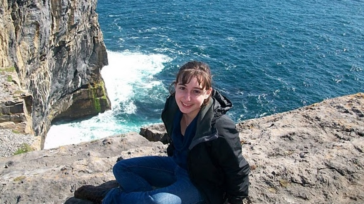 Erin McKenney on the shores of Ireland
