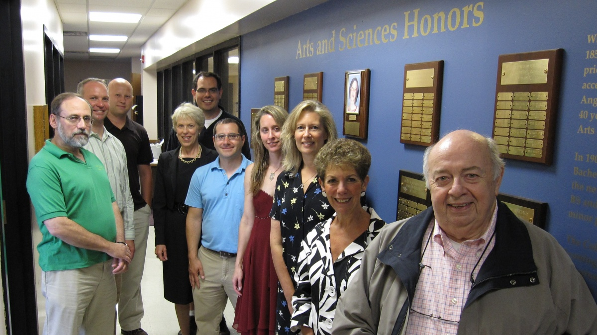 Faculty Honorees at the Dedication of the Arts & Sciences Wall of Honors.