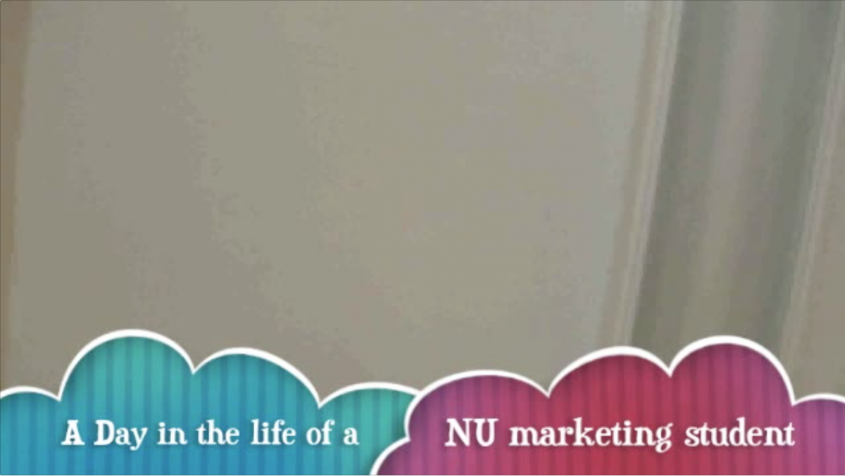 A Day in the Life of an NU Marketing Student