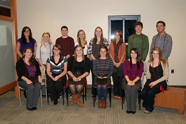 Picture of Fall 2011 Sigma Tau Delta inductees.