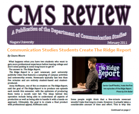 The CMS Review Departmental Newsletter