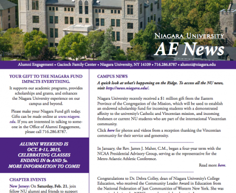 Alumni Engagement Newsletters