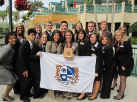 Niagara University's student chapter of the Club Managers Association of America (CMAA) received its second straight Student Chapter of the Year award at the association's National Conference in Orlando, Fla. on Feb. 25, 2011
