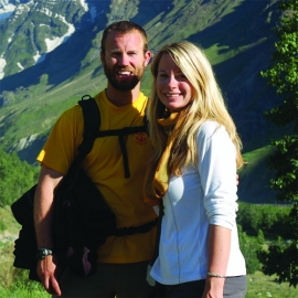 Shawn Vainio and his wife, Annjannette, at home in Alaska.