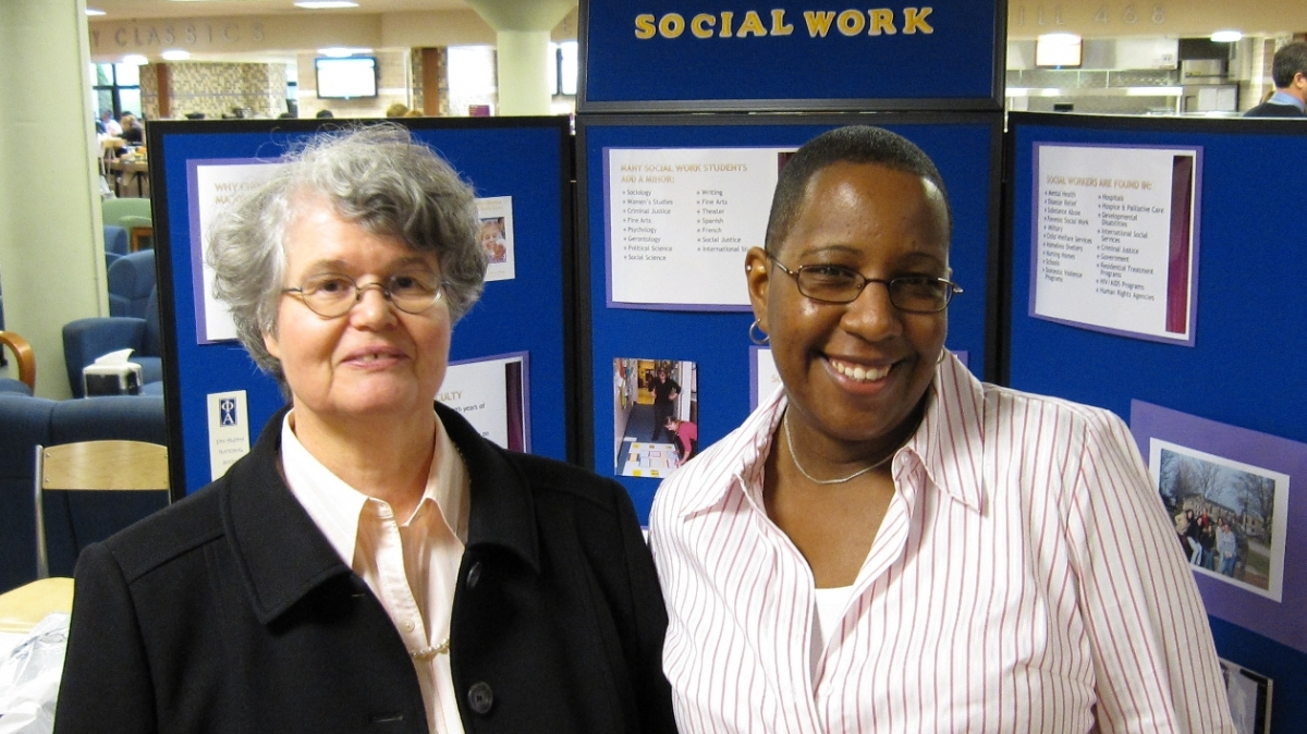 Dr. Laverman and Professor Edmunds of social work.