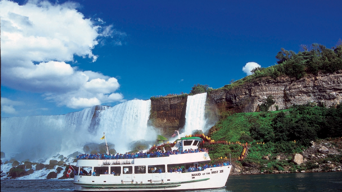 Journey into the heart of one of North America's most powerful waterfalls aboard the Maid of the Mist.