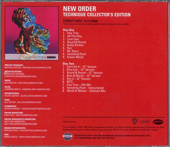 New Order Albums Technique
